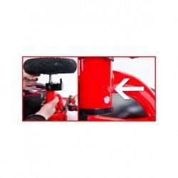 Detské lehátko s hojdačkou a strieškou s hračkami Baby Mix sivé