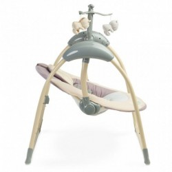 Jedálenský stolček, hojdačka ECO TOYS 3v1 - hnedý