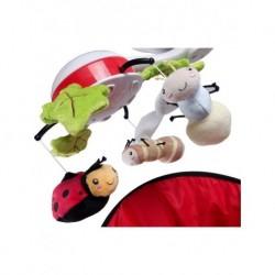 Detská postieľka Nel mráčik biely - 120x60